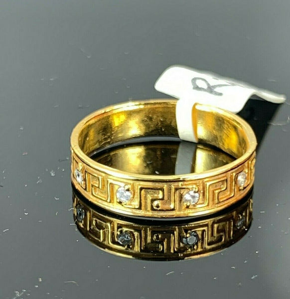 "22k Ring Solid Gold ELEGANT Charm Ladies Band SIZE 7.5 ""RESIZABLE"" r2933mon"