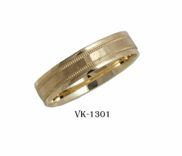 18k Solid Gold Elegant Ladies Modern Shiny Finished Flat Band 5mm Ring VK1301v
