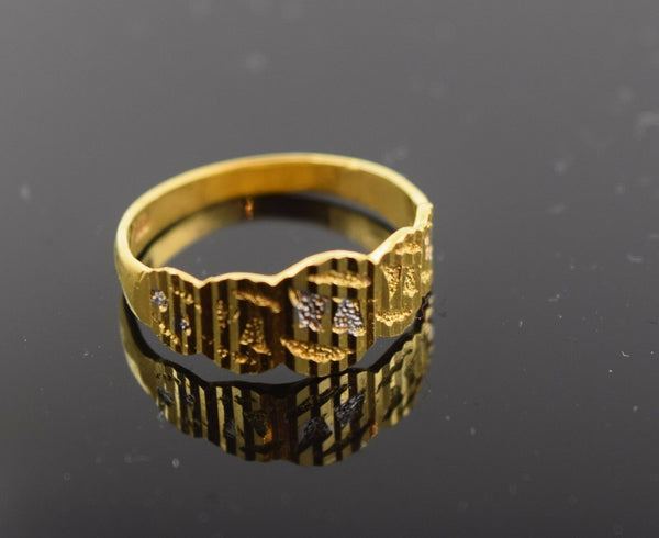 "22k Jewelry Solid Gold ELEGANT BABY KIDS Ring ""RESIZABLE"" size 4 r484"