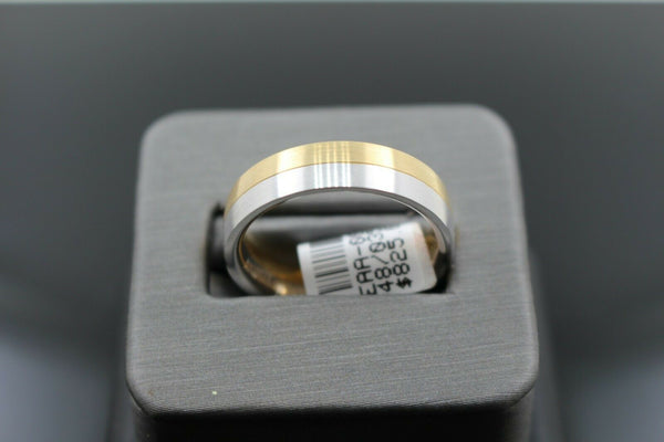 18k Solid Gold Elegant Ladies Modern Shiny Disc Finish Band Ring R9459m