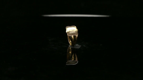 "22k Ring Solid Gold ELEGANT Charm Baby Simple Ring SIZE 0.5"" RESIZABLE"" r2773"