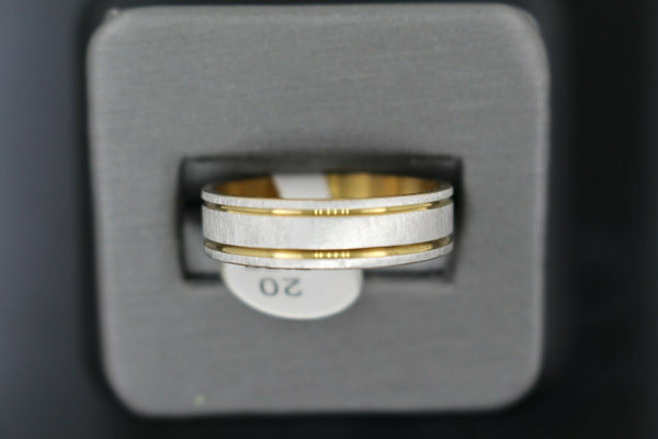 18k Solid Gold Elegant Ladies Modern Sand Finish Band Ring R9352m