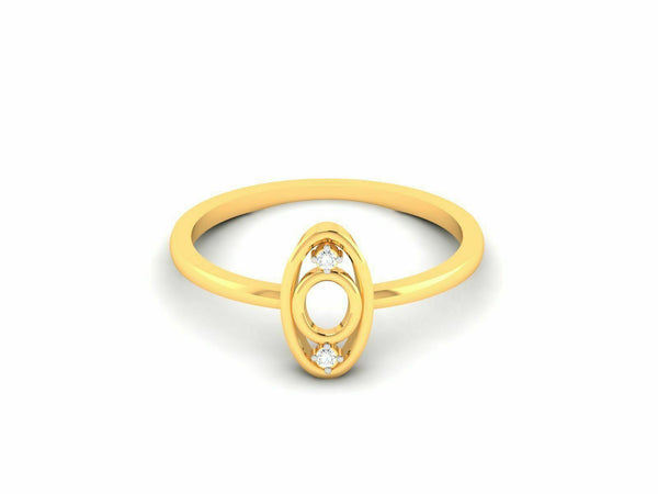 22k Solid Yellow Gold Ladies Jewelry Elegant Oval Design Ring CGR84