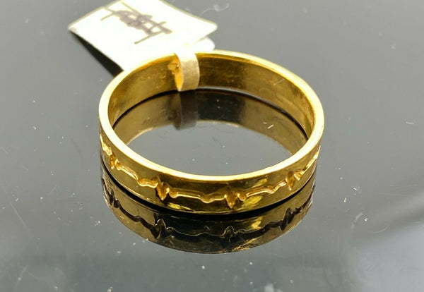 "22k Ring Solid Gold ELEGANT Charm Ladies Band SIZE 11.25 ""RESIZABLE"" r2583mon"