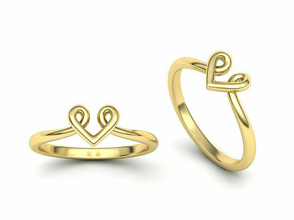 14k Ring Sold Yellow Gold Ladies Jewelry Modern V Shape Design CGR52