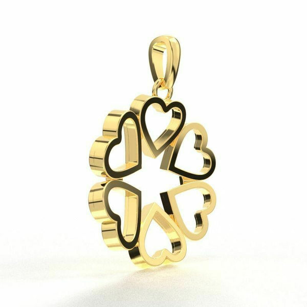 22k Solid Yellow Gold Ladies Jewelry Elegant Infinity Heart Pendant CGP23