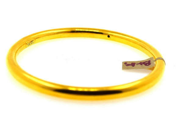 22k Solid Gold Ladies Bangle Simple Plain Round Design br119z