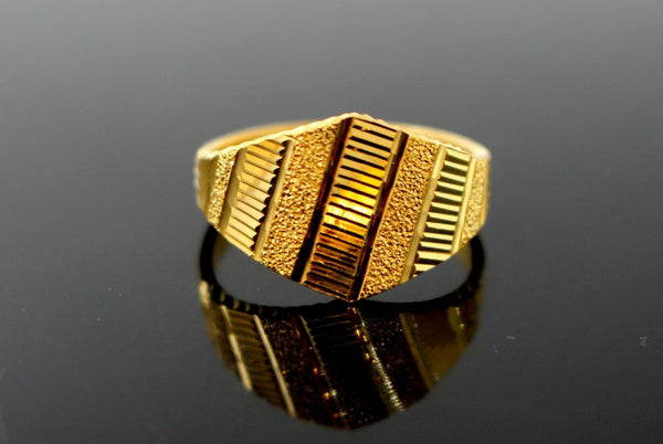 "22k Solid Gold ELEGANT DESIGNER LADIES RING SIZE 7.5 ""RESIZABLE"" R1601"