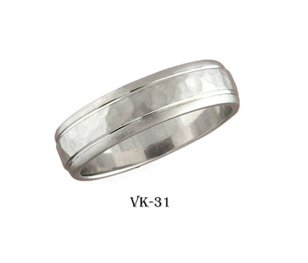 14k Solid Gold Elegant Ladies Modern High Polished Flat Band 6MM Ring VK31v