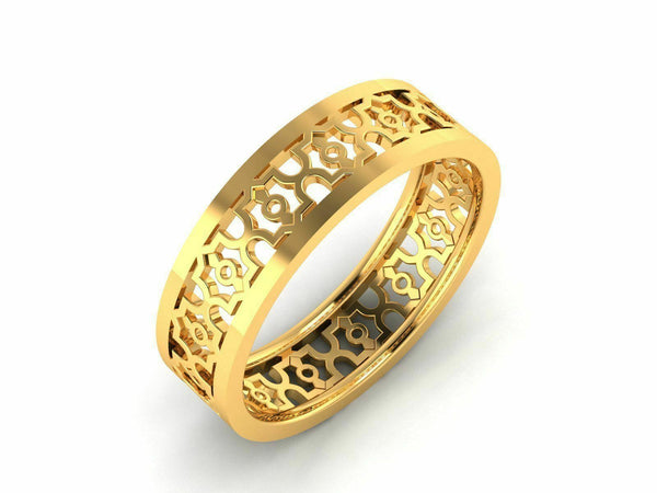 22k Solid Yellow Gold Unisex Jewelry Elegant Designer Band CGR1