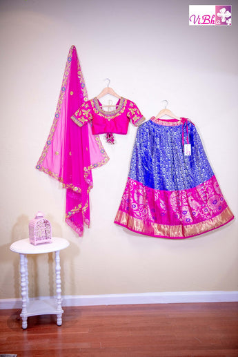 Royal blue and pink