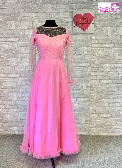 Gown - Bubblegum Pink Full Sleeve Gown!