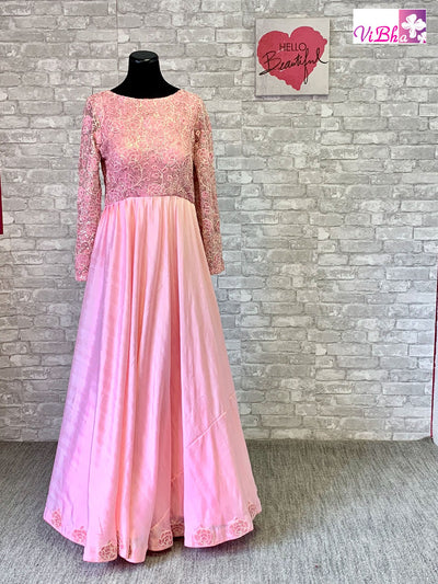 Gown - Light Pink Full Sleeve Gown!