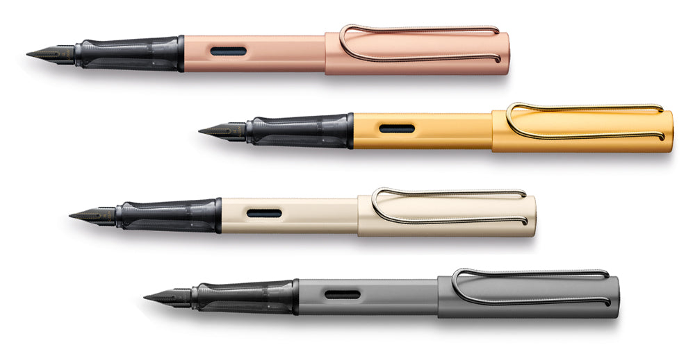 Lamy LX Rose Gold, Gold, Palladium, Ruthenium Fountain Pens