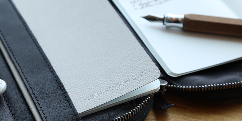 Pebble Stationery Co. Notebook in use