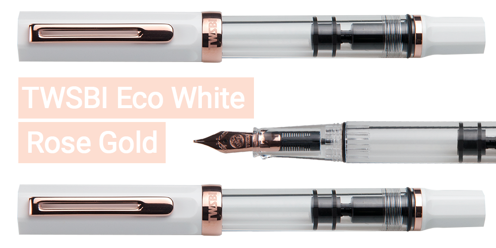 TWSBI Eco Home Screen White Rose Gold