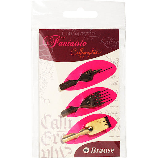 Brause Packet of 3 Nibs – Fantasy
