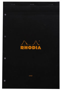 Rhodia Bloc Black Foolscap – Lined and Margined