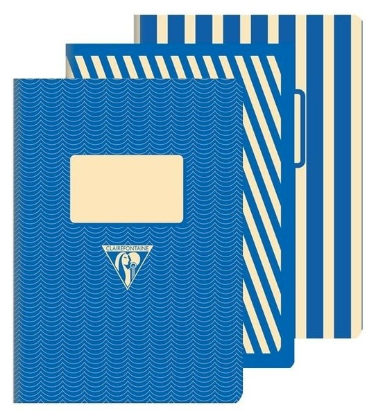 Clairefontaine 1951 Back to Basics A5 Stapled Blue