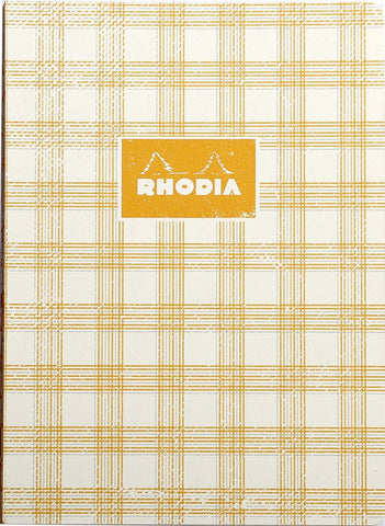 Rhodia Heritage A5 Raw Bound Notebook Lined - Tartan Ivory