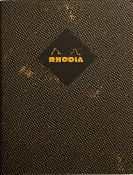 Rhodia Heritage A5 Sewn Spine Notebook Lined - Chevrons Black