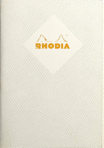 Rhodia Heritage A5 Sewn Spine Notebook Lined - Chevrons Ivory