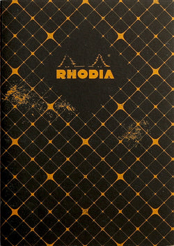 Rhodia Heritage A5 Sewn Spine Notebook Lined - Quadrille Black