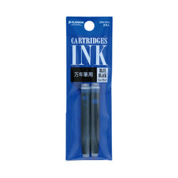 Platinum Blue Black Cartridge 2 Pack