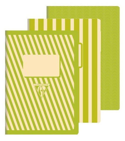 Clairefontaine 1951 Back to Basics A5 Stapled Green