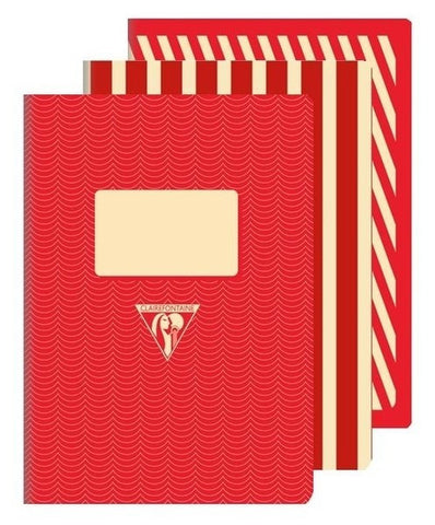 Clairefontaine 1951 Back to Basics A5 Stapled Red
