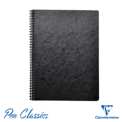 Clairefontaine Wirebound A4 Age-Bag Black Notebook - Lined Cover