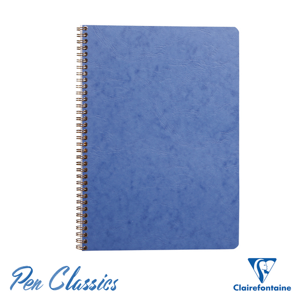 Clairefontaine Wirebound A4 Age-Bag Blue Notebook - Lined Cover