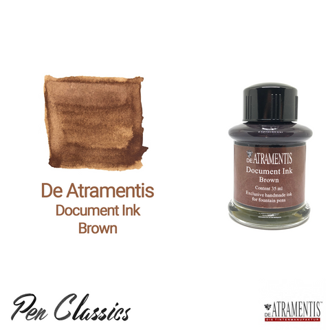 De Atramentis Document Ink Brown Ink Bottle and Swab