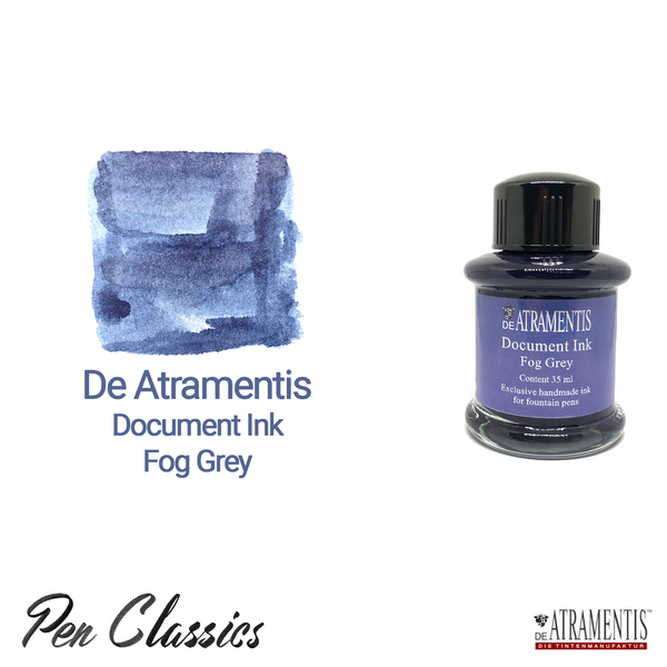 De Atramentis Document Ink Fog Grey Ink Bottle and Swab