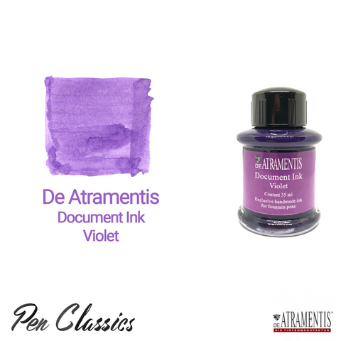 De Atramentis Document Ink Violet Ink Bottle and Swab