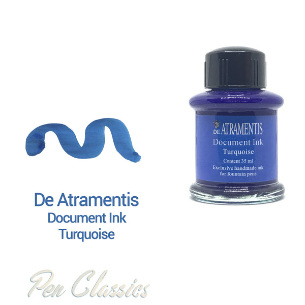 De Atramentis Document Ink Turquoise 35ml
