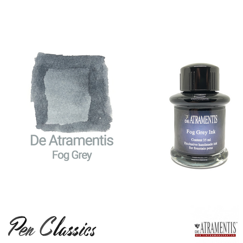 De Atramentis Fog Grey Ink Bottle and Swab