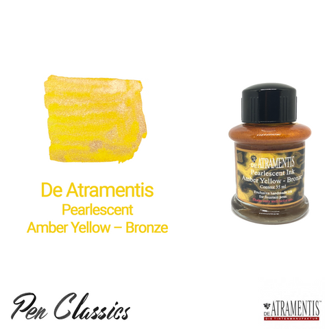 De Atramentis Pearlescent Amber Yellow – Bronze 35ml