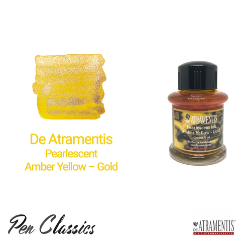 De Atramentis Pearlescent Amber Yellow – Gold 35ml