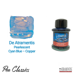 De Atramentis Pearlescent Cyan Blue – Copper 35ml