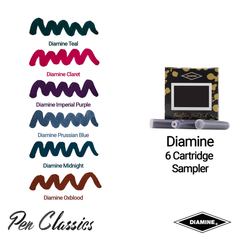 Diamine 6 Pack Sampler Ink
