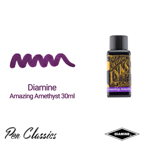 Diamine Amazing Amethyst 30ml Ink Swatch Bottle