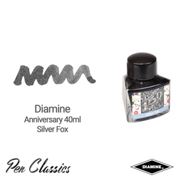 Diamine Anniversary Silver Fox 40ml Ink Swatch Bottle