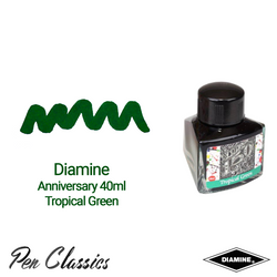 Diamine Anniversary Tropical Green 40ml Ink Swatch Bottle