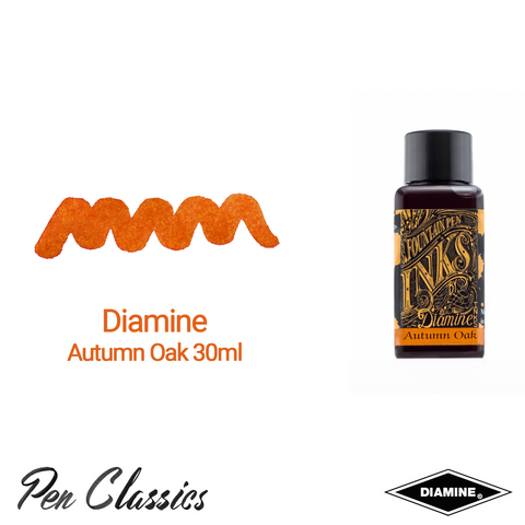 Diamine Autumn Oak 30ml Ink Swatch Bottle