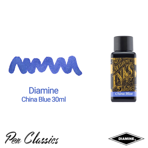Diamine China Blue 30ml Ink Swatch Bottle