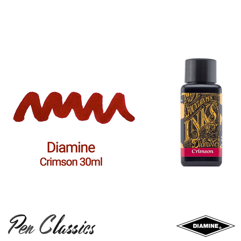Diamine Crimson 30ml Ink Swatch Bottle