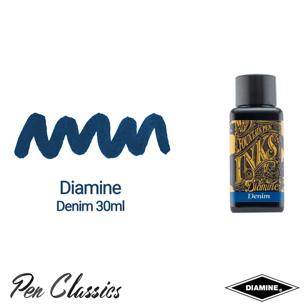 Diamine Denim 30ml Ink Swatch Bottle