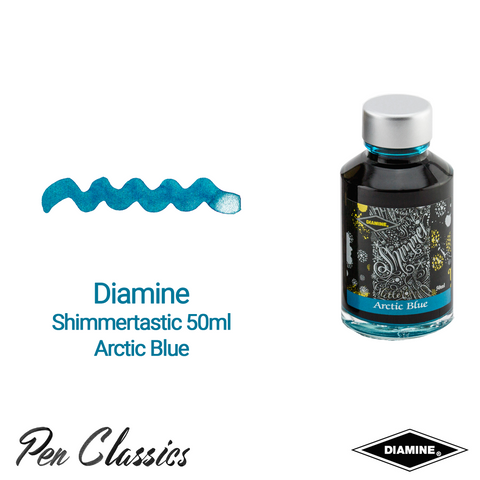 Diamine Shimmertastic Arctic Blue 50ml