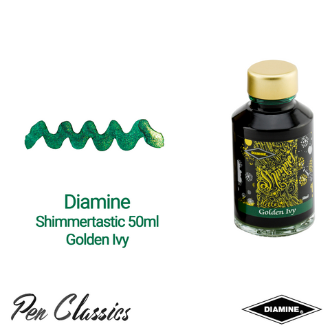 Diamine Shimmertastic Golden Ivy 50ml